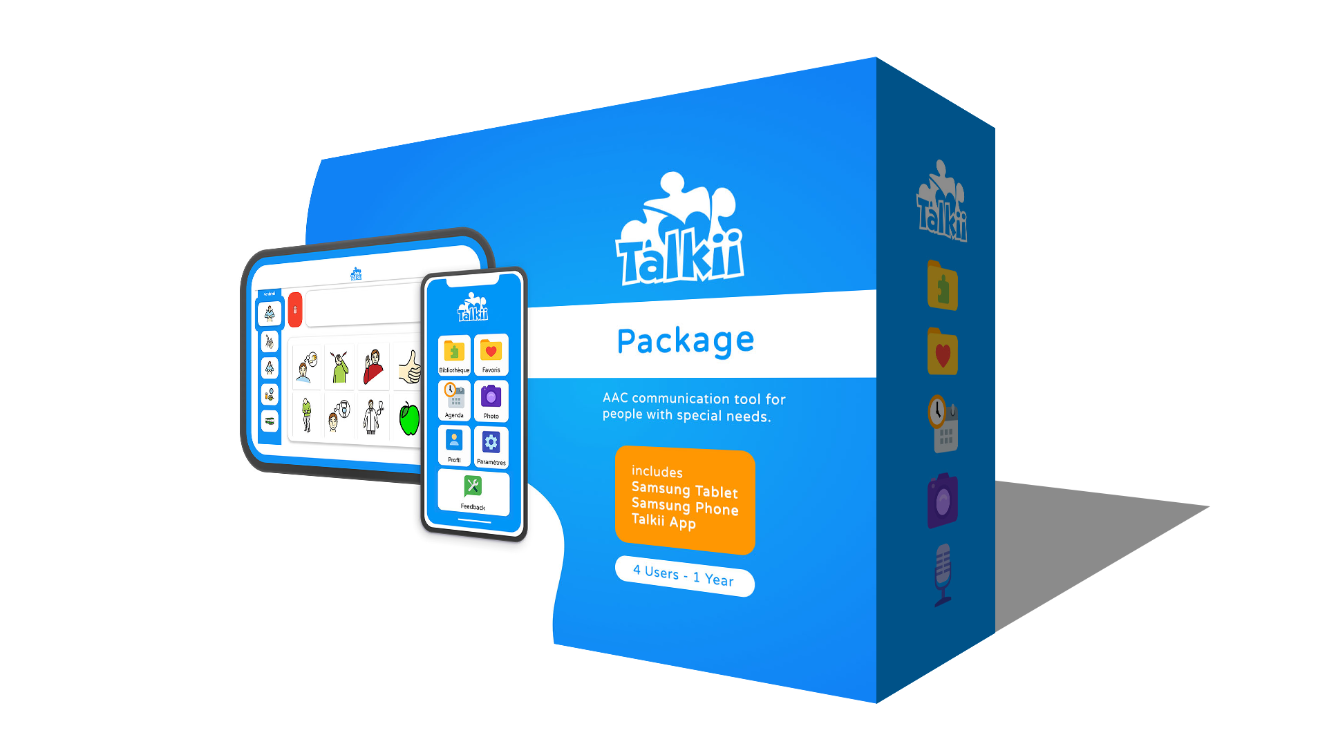 Talkii Package Tablet Phone